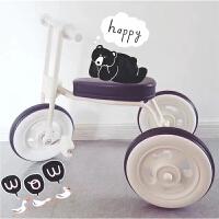 日本 无印良品复古儿童三轮车脚踏车带斗 1-3周岁 小轻便手推车