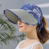 帽子女韩版百搭鸭舌帽户外防晒遮阳帽遮脸空顶太阳帽潮