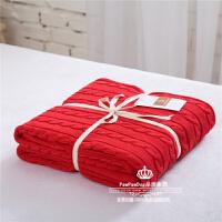 全棉麻花毯针织毛线毯子/办公室午睡毯/毛毯盖毯/沙发毯子休闲毯