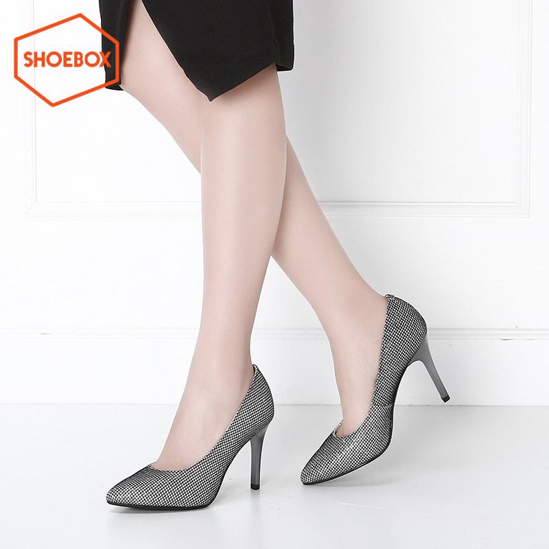 达芙妮集团 鞋柜高跟鞋春秋新款尖头细跟单鞋通勤女鞋断码不补货 正品保证 支持专柜验货