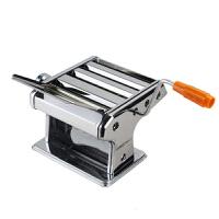普润 三刀压面机 家用不锈钢面条机 饺子皮机 3刀圆面压面机 家用手动擀面机 摇擀面机