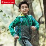 【下单5折】探路者童装 2018春夏新款户外男大童弹力开衫速干跑步外套QAEG83070
