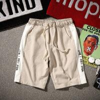 夏季日系休闲短裤男士加肥加大码韩版宽松薄款五分裤潮流运动裤子