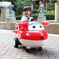 遥控玩具车男女孩童车飞侠 儿童电动车摇摇摆车可坐双驱汽车