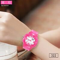 时尚电子表儿童礼物手表女孩韩版运动ulzzang女学生防水户外手表