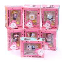 ????喜迎中秋国庆7款可妮兔布朗熊套装 眼镜造型彩盒装 娃娃机公仔 喜迎国庆 6代7款可妮兔和布朗熊盒装 高约6-1