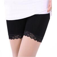每人限购一条 冰丝蕾丝打底裤安全裤防走光夏季短裤女 黑色 均码