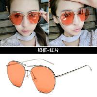 女士太阳镜个性潮 大框墨镜圆脸韩版时尚彩膜眼镜