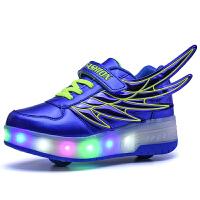 儿童滑轮运动鞋暴走鞋男童女童带轮闪灯鞋单轮爆走鞋隐形