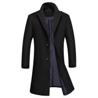 毛呢大衣男中长款冬季加厚韩版宽松商务呢子外套长款过膝风衣英伦