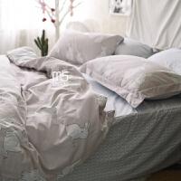 家纺夏季全棉床上用品四件套纯棉韩式卡通1.8m床单被套件1.5m床笠床品