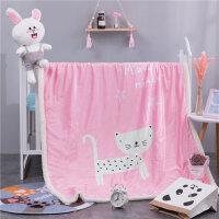 儿童婴儿小毛毯双层加厚宝宝盖毯羊羔绒毯子女秋冬季双面水晶绒毯 200*230cm 双层加厚 约3.6斤