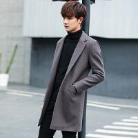 男装毛呢大衣中长款披风潮流韩版修身冬季男士青年呢子风衣男外套