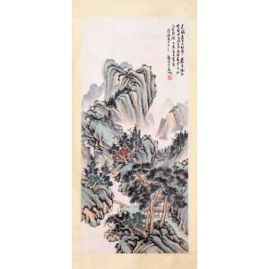 海派画家代表人物   吴征《山间幽居图》