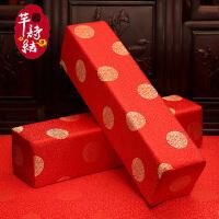 新中式实木沙发垫红木家具坐垫抱枕靠垫靠背扶手枕方形枕绸缎定制定制