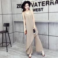 2018春夏装新款韩版上衣女成熟气质+喇叭长裤两件套漏肩时尚套装