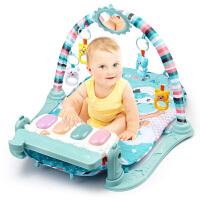 新生儿0-1岁男孩女孩0-6个月宝宝玩具婴儿健身架器脚踏钢琴游戏毯