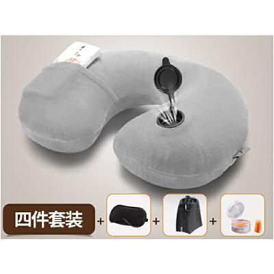车载U型枕充气颈椎枕 旅行便携吹气枕飞机自驾游护颈枕头快速充放