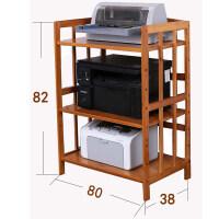 移动打印机架子置物架现代办公桌面多层收纳架复印机架子实木柜子