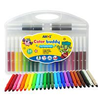 AMOS 超级可水洗24色水彩笔(产地:意大利)CB24儿童绘画工具幼儿园儿童涂色涂鸦笔 当当自营