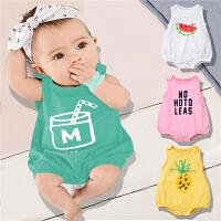 婴儿连体衣宝宝三角哈衣薄款短袖包屁衣夏季