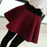 2017年冬季半身裙百搭中腰加厚棉修身显瘦气质时尚纯色 均码(80斤-125斤)