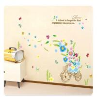 创意墙纸贴画餐厅墙角墙壁装饰墙边墙上贴纸墙贴卧室绿色田园窗户 中