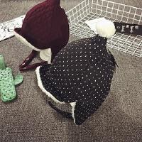 儿童帽子冬季加绒护耳帽宝宝帽子1-2岁韩版男女雷锋帽婴儿帽保暖