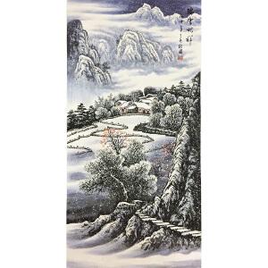 周裕国《瑞雪兆祥》著名画家