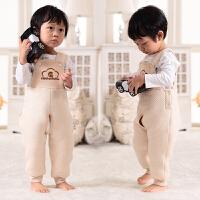 宝宝吊带套装婴儿连体棉衣棉裤秋冬季背带裤保暖夹棉护肚开裆