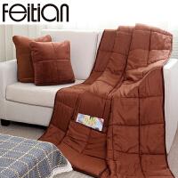 飞天汽车抱枕被子办公室午睡两用枕头被沙发靠枕被多功能靠垫被厚【无拉链款2斤】