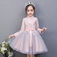 女童连衣裙冬季儿童冬装洋气公主裙秋冬过年裙子