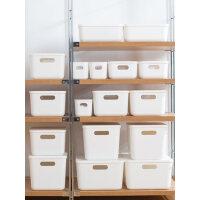 日式桌面收纳盒储物盒衣柜零食杂物收纳筐抽屉式带盖整理箱小盒子