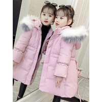 儿童棉衣2018新款冬季中大童韩版棉袄中长款女孩棉服