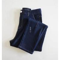萝卜牛仔裤 像小西裤一样的牛仔 捏条女士九分休闲裤 牛仔哈伦裤