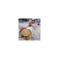 儿童草帽夏天女童沙滩帽遮阳帽宝宝太阳帽韩版度假亲子可折叠防晒