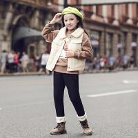 女童秋冬季套装儿童加绒女孩韩版潮童装