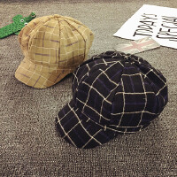 男童帽子春秋儿童贝雷帽薄款鸭舌帽八角画家帽韩版女童帽宝宝帽子