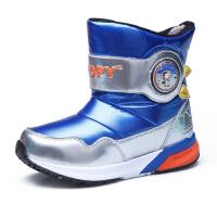 史努比童鞋男童雪地靴冬季新品儿童雪地靴保暖中筒棉靴男童靴