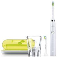 飞利浦(PHILIPS)电动牙刷HX9332/04 钻石亮白型 充电式成人声波震动 陶瓷白
