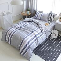 单人床上三件套学生宿舍1.2米0.9m寝室1.5米被套床单套件 ( 学生三件套+被芯+枕芯 )