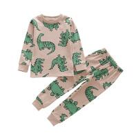 女童内衣套装儿童秋冬家居服男童睡衣棉毛衫