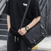 韩版休闲单肩包男时尚潮流斜挎包青年学生斜背包运动邮差男包