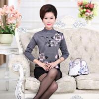 中老年女装秋冬装针织衫中年女士针织打底衫妈妈装半高领套头毛衣
