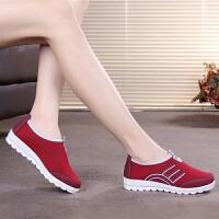 新款老北京布鞋女鞋休闲鞋透气平底防滑单鞋运动鞋软底妈妈鞋