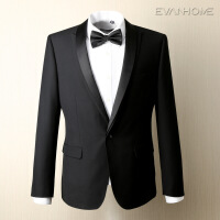 春季新款男士商务正装西服套装 新郎结婚双领修身西服男 EVXF062
