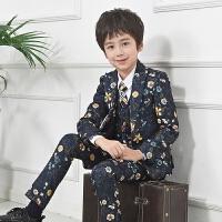 上衣男孩英伦韩版休闲套装潮秋冬 儿童西装男童小西服花童礼服外套