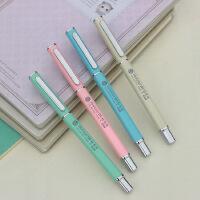 爱好8727高档签字笔全金属方杆学生办公中性笔0.5mm水笔
