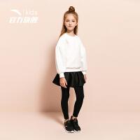 安踏(ANTA)官方旗舰店 儿童女童中大童装针织透气运动套装6岁以上A36918790