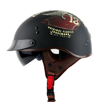 摩托车头盔男女半覆式半盔夏季太子盔个性时尚情侣四季安全帽